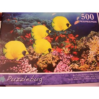 Puzzlebug 500 Piece Puzzle ~ Butterfly Fish & Coral, Red Sea, Egypt