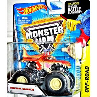 Hot Wheels Monster Jam Scale 1:64 Mega-Wrex Includes Battle Slammer