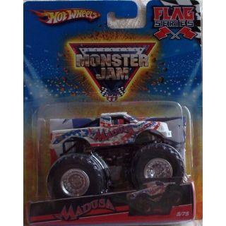 Hot Wheels Monster Jam 2010 MADUSA - Flag Series #5-75 1:64 Scale