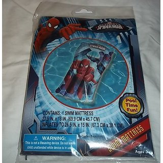 Spiderman Swim Mattress 27.5 X 18 Inches