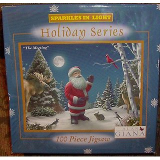 Sparkles in Light Holiday Series The Meeting 100 Piece Puzzle by Alan Giana