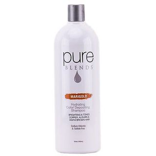 Pure Blends Hydrating Color Depositing Shampoo - Marigold - 33.8 oz