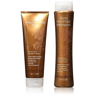 Brazilian Blowout Anti Frizz Shampoo and Acai Deep Conditioning Masque 2 Items