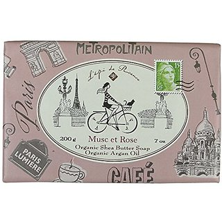 Tour De France Metropolitan Musc and Rose French Organic Soap 200 G