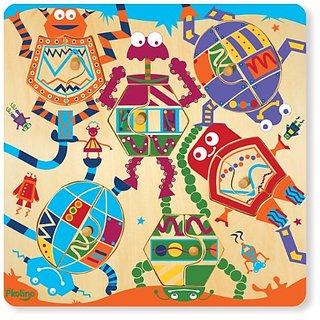 Pkolino Mix & Match 12 Piece Puzzle - Robots