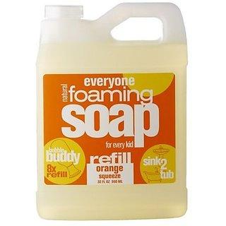 Everyone Kids Bubble Buddy Foaming Soap Refill, Orange Squeeze, 32 Ounce