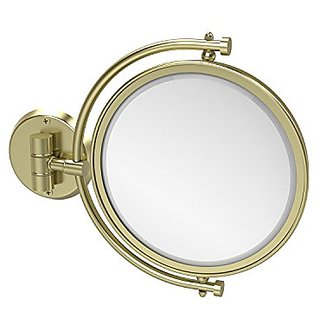 Allied Brass WM-4/3X-SBR 8-Inch Mirror with 3x Magnification Extends 7-Inch, Satin Brass