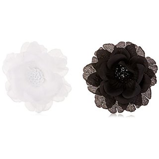 Linda Fashion Big and Blooming Flower Pin Hair Clip, Assorted, 12 Count