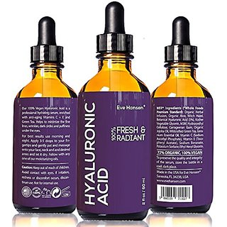 2 oz Hyaluronic Acid - Facelift in a Bottle #2 - 100% Vegan Professional Hydrating Serum - SEE RESULTS OR - Big 2 ounce