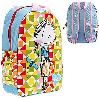 Girls Hablando Sola Girls Colorful School Backpack