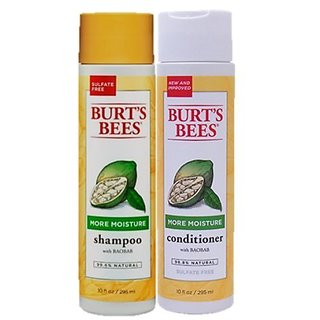 Burts Bees: More Moisture Baobab Shampoo + Conditioner, 10 oz Combo