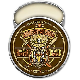 GRAVE BEFORE SHAVE Head Hunter Beard Balm (Tropical summer aroma) (2 oz.)
