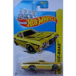 2014 Hot Wheels 72 Ford Ranchero Yellow 134-250 HW Off-Road HW Hot Trucks