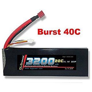 DLG 20C Burst 40C 3S 3200mAh 11.1V LiPO Li-Po High-Discharge Rate Powerful Battery with Deans T Plug