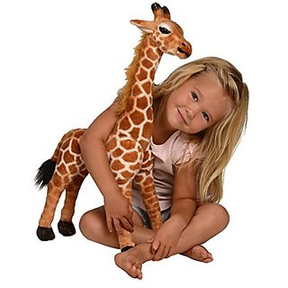 Kangaroo Stuffed Giraffe - Toy Plush Giraffe- 2 High, Neck Moves