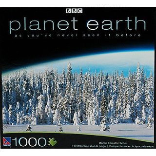Planet Earth BBC 1000 Piece Puzzle - Boreal Forest in Snow
