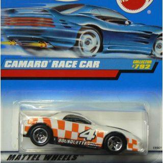 Mattel Hot Wheels 1998 1:64 Scale Orange & White Camaro Race Car Die Cast Car Collector #792