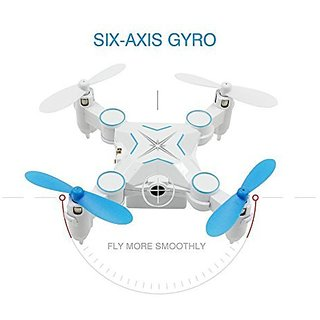 HELIWAY 901 2.4GHz 4CH 6Axis Gyro Headless Mini Pocket Rc Quadcopter Drone with LED Light Blue