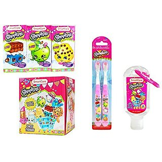 Shopkins Back to School Pack ~ Pocket Tissue, Hand Sanitizer, Toothbrushes & Face Tissue