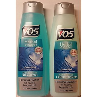 Alberto VO5 Herbal Escapes Ocean Refresh Shampoo and Conditioner Set - One 12.5 Fl Oz Shampoo and One 12.5 Fl Oz Conditi