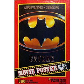 Batman Movie Poster Puzzle 500 Pieces Milton Bradley 2x3 1989 Warner Bros.