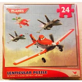 Planes Lenticular Puzzle [24 Pieces] 4 Planes From Above the World of Cars by Cardinal