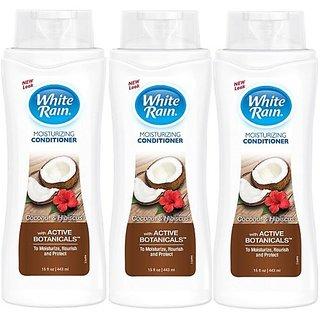 White Rain Coconut Hibiscus Moisturizing Conditioner 15oz (pack of 3)