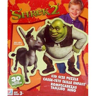 Shrek 2 Kid Size Puzzle - 30 pieces - Shrek with Donkey