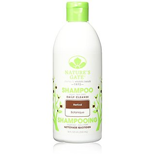 Natures Gate Daily Cleansing Shampoo for All Hair Types, Herbal, (18 fl oz) (532 ml) (Pack of 3)