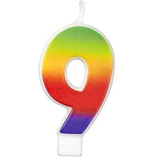 Wilton W2811-1048 Rainbow Candle, Numeral 9