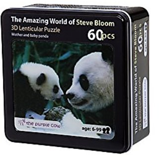 The Purple Cow Lenticular Mother and Baby Panda Puzzle