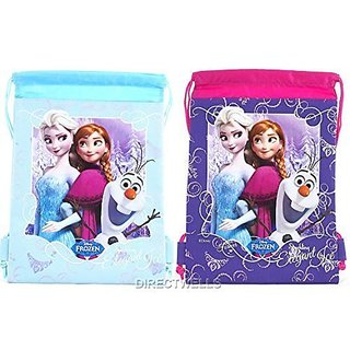 Disney Frozen Elsa Anna and Olaf Character Drawstring Bag Randomly