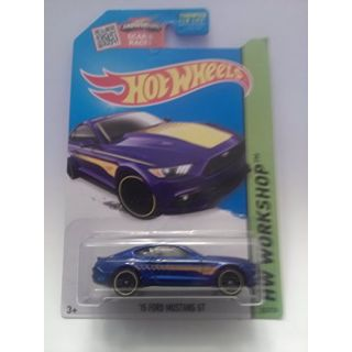 Hot Wheels, 2015 HW Workshop, 15 Ford Mustang GT [Blue] Die-Cast Vehicle #247-250