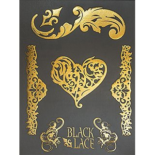 BLACK LACE SKIN JEWELRY - METALLICS - Passionate