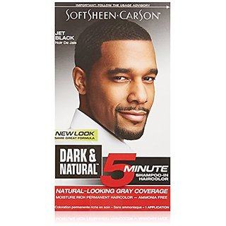 SoftSheen-Carson Dark & Natural 5 Minute Shampoo-In Haircolor, Jet Black