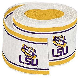 Creative Converting Crepe Louisiana State University Streamer, 30, Purple Gold
