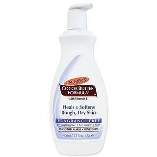 Palmers Cocoa Butter Formula With Vitamin E Lotion Fragrance Free , 13.5-Ounce Bottle (Pack of 4)