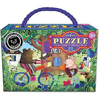 Bear on Bicycle 20 Pc. Puzzle