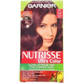 Garnier Nutrisse Nourishing Permanent Haircolor, R1 Dark Intense Auburn