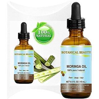 Botanical Beauty Moringa Oil for Face, Body, Hair, 0.5 fl. oz.