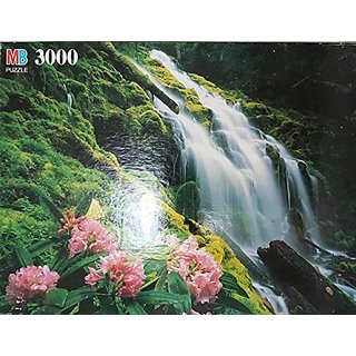 1995 MB 3000 Piece Magnum Puzzle ~ Summer Afternoon -Flower Garden ~ Interlocking
