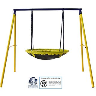 Jump Power 2-person UFO Swing-Set for Kids-Toddlers