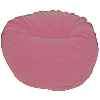 Ahh! Products Rose Pink Anti-Pill Fleece Washable Large Bean Bag Chair