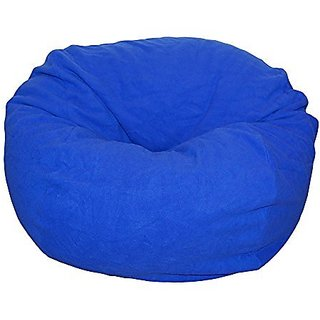 Ahh! Products Blue Anti-Pill Fleece Washable Large Bean Bag Chair