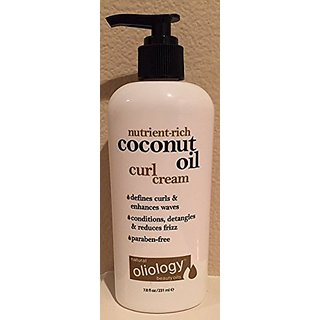 Oliology Coconut Oil Curl Cream, 7.8 Oz.