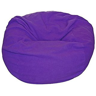 Ahh! Products Purple Anti-Pill Fleece Washable Large Bean Bag Chair