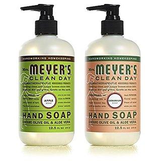 Mrs. Meyers Clean Day Liquid Hand Soap Apple & Geranium (2x12.5 fl oz)