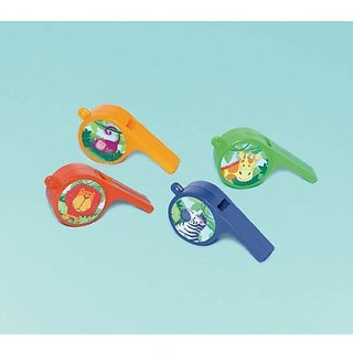 Amscan Colorful Jungle Animals Whistles Birthday Party Favor, 7.5 x 5.75