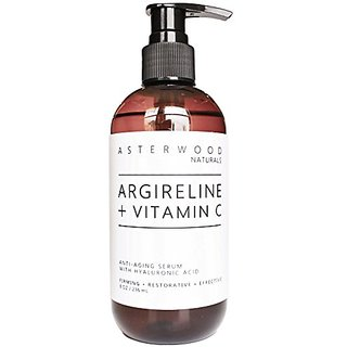 Argireline 30% + Vitamin C 20% Serum with Organic Hyaluronic Acid 20% 8 oz - Anti Aging, Amazing Sun Damage Repair & Bot