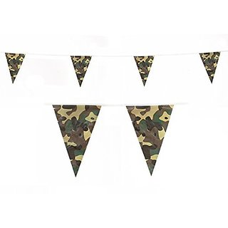 Camo Camouflage Flags Banner Bunting Party Decoration for Army Military Camping